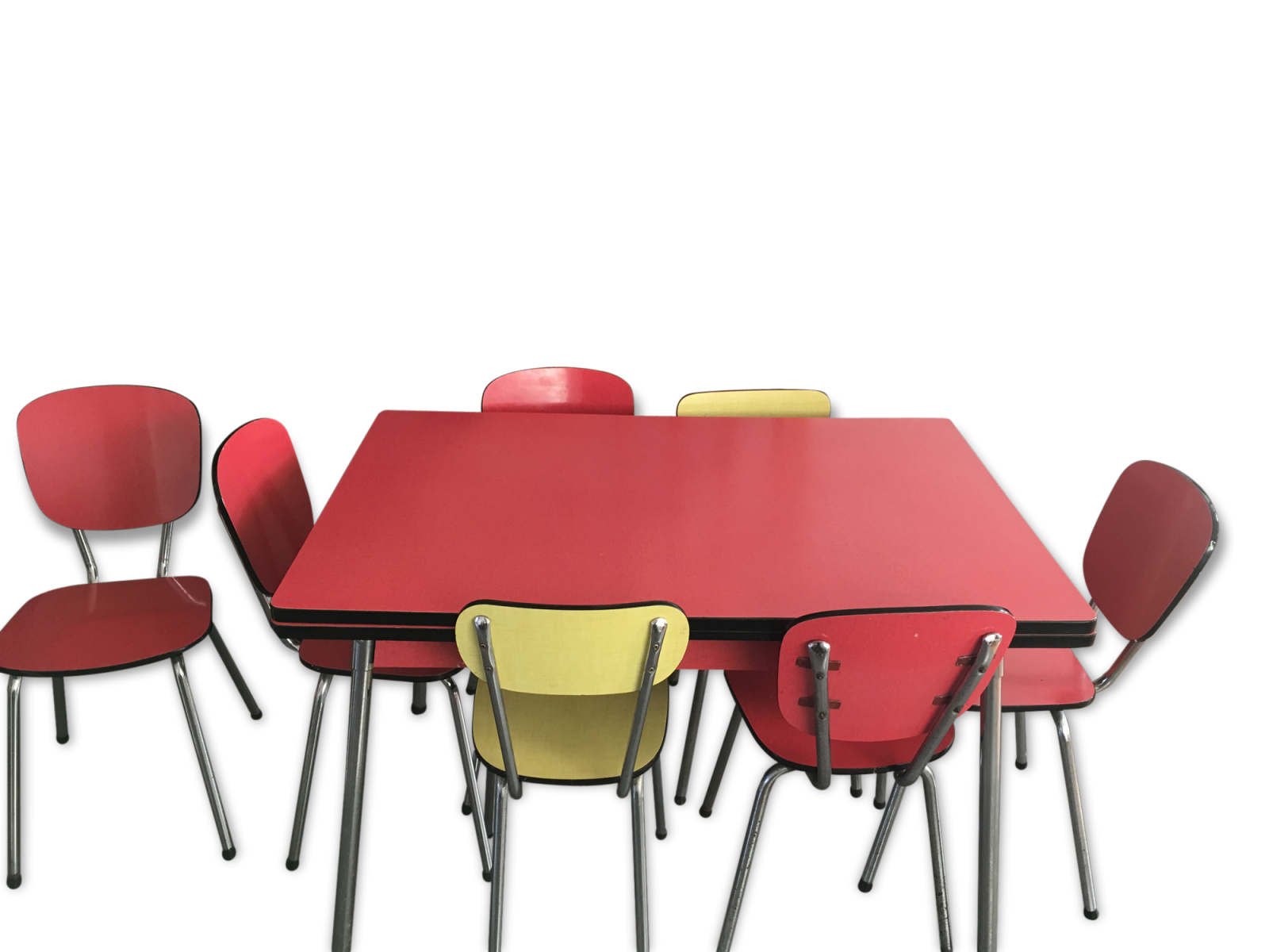 Grande table  formica + 7 chaises