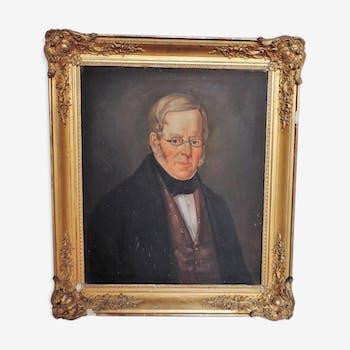 Portrait  d'un notable époque XIX ème