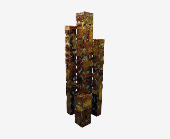 De Ciel Et Poliarte Verre Lampadaire Années Cristal 1960 Gratte xoWCerdB