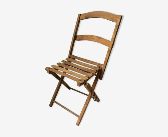 Chaise pliable  en bois pour enfant