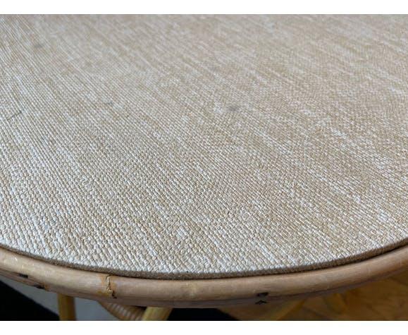 Table basse bout de canapé en rotin