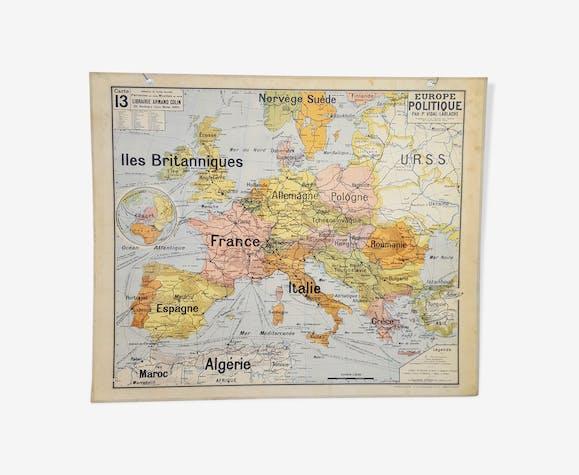 School map n ° 13 Europe political