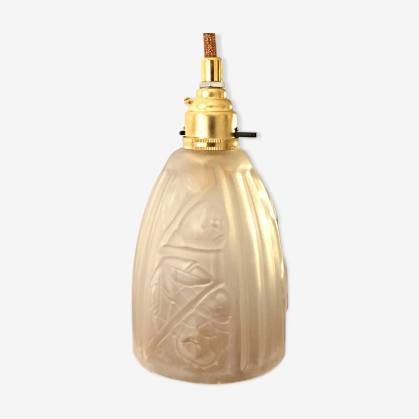 Lampe Tulipe Art Deco Verre Et Cristal Transparent Art Deco