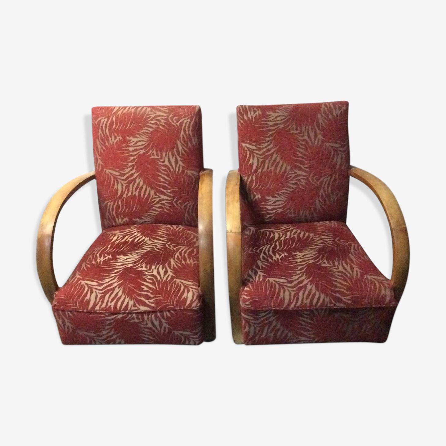 Paire de fauteuils confortables  art deco