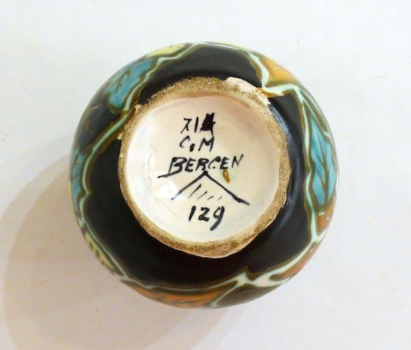 Vase boule à émaux mats de Bergen 1930'-1940'