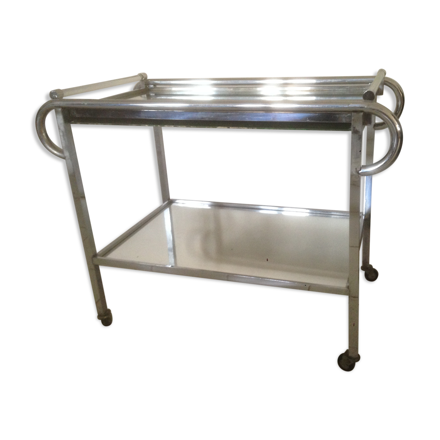 Table roulante inox perfect table de travail roulante for Table roulante cuisine