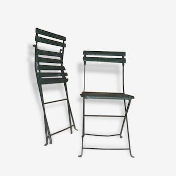 Paire de chaises de parc ou de jardin.