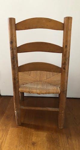 Chaise enfant vintage