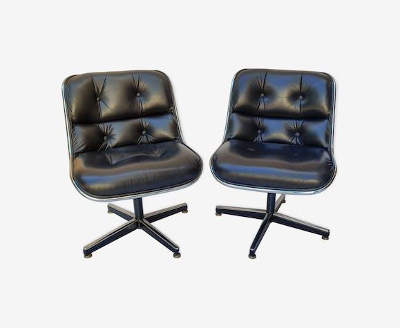Paire de fauteuils par Charles Pollock pour Knoll