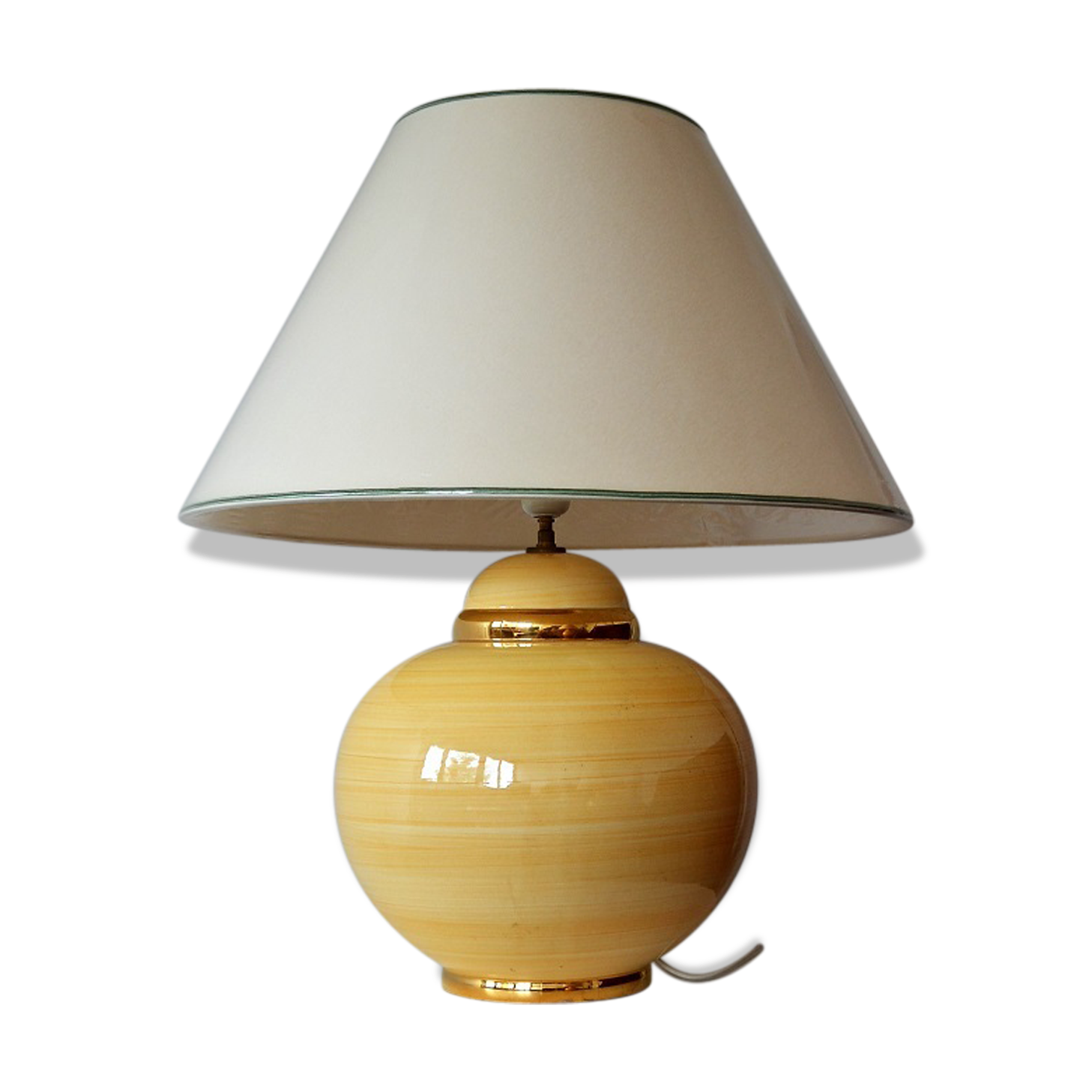 Lampe De Salon Kostka Ceramics Porcelain And Earthenware Yellow