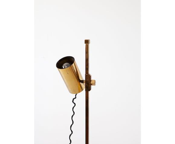 Lampe de sol en laiton italienne, années 1970