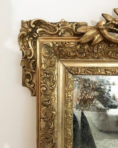 Miroir doré Napoleon III