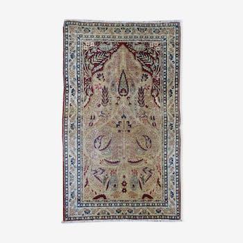 Carpet old Persian 90cmx146cm hand made lavar kerman 1880 s