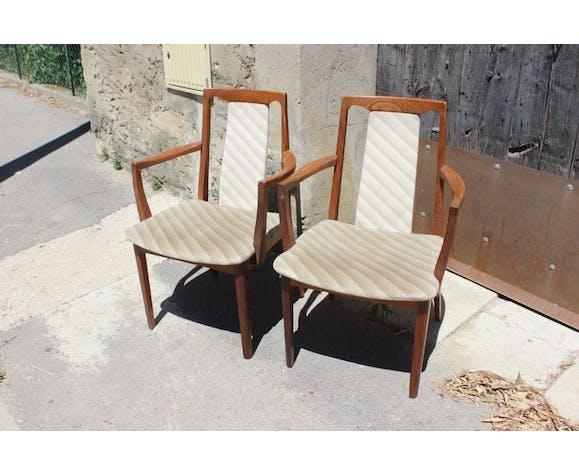 Chaises vintage en teck style scandinave par G-Plan