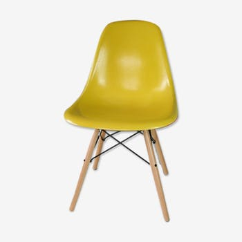 Chaise design industrielle scandinave vintage d 39 occasion for Chaise dsw jaune moutarde
