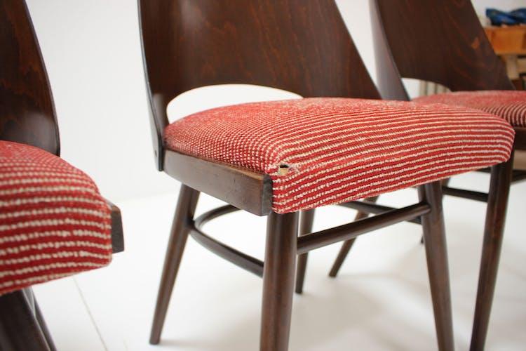 Lot de 4 chaises conçues par Oswald Haerdtl, années 1960