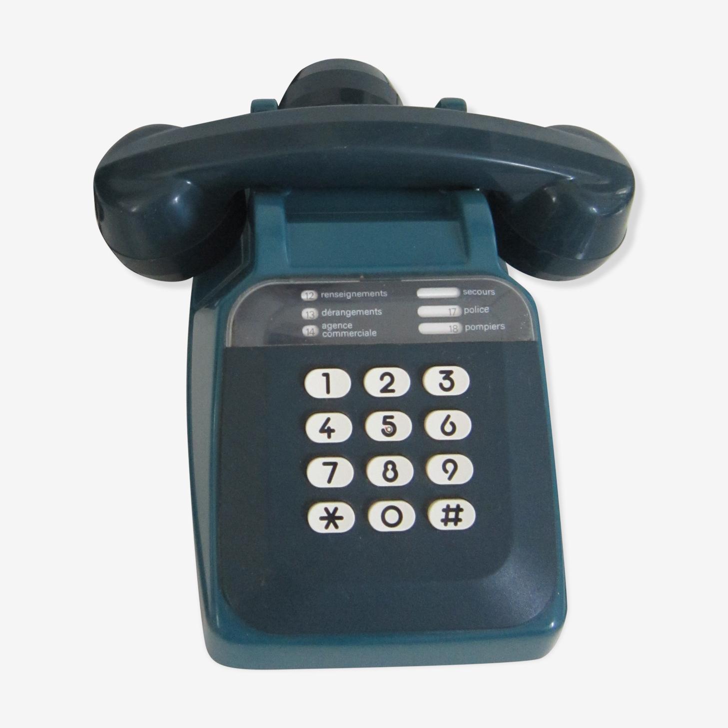 Téléphone vintage socotel bleu à touches