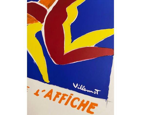 Affiche publicitaire La fête de l' affiche par Bernard Villemot
