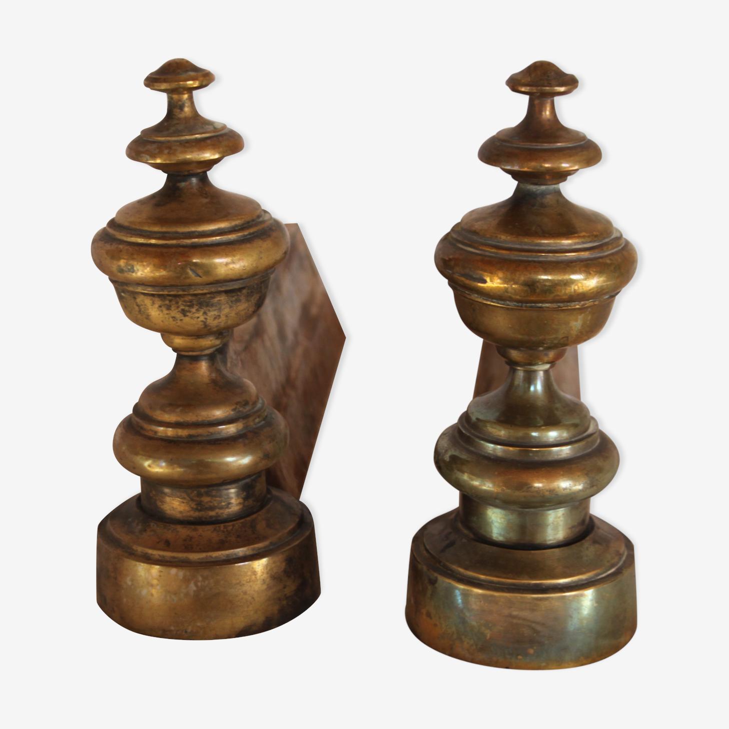 Ancienne paire de chenets d'époque XIX ème
