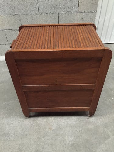 Wooden bar box with curtains from the 50s