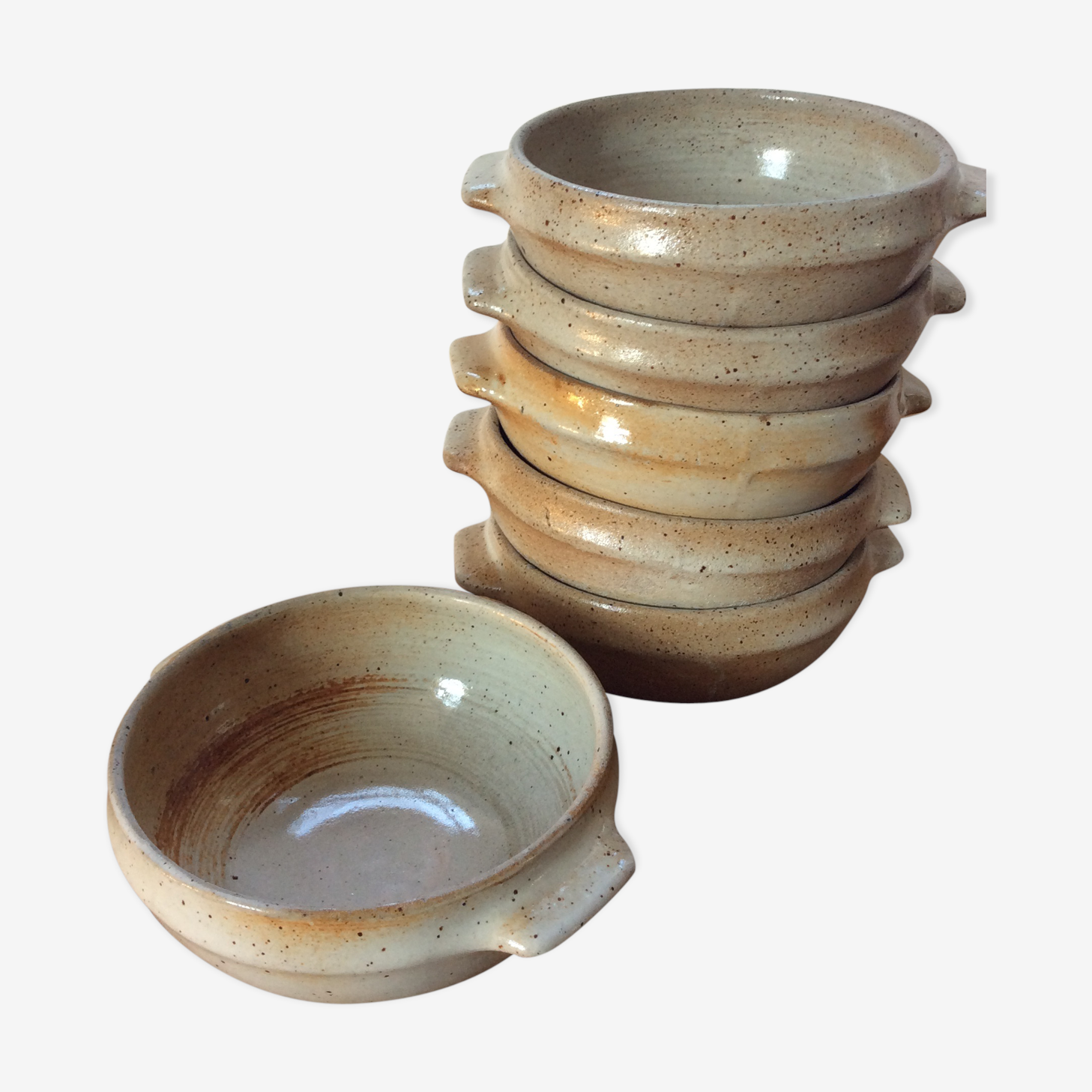 Bowls or cups in stoneware vintage