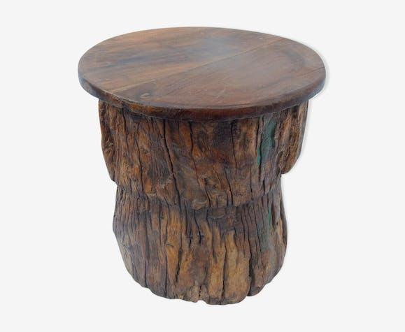 Tabouret Table Chevet Gueridon Rondin Bois Flotte Bois Materiau