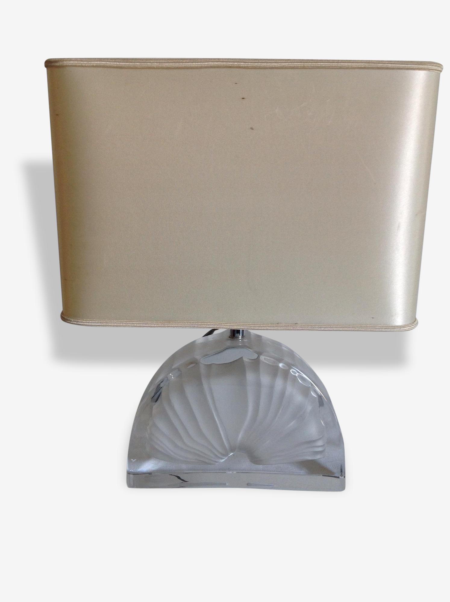 Lampe Daum Verre Et Cristal Transparent Vintage 144736