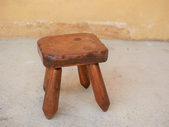 Brutalist stool by Louis Prugent