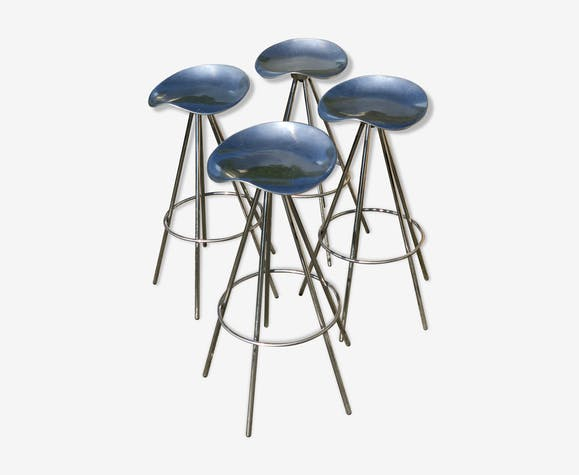 Pair of stools Pépé Cortes model Jamaica Amat 1990 edition