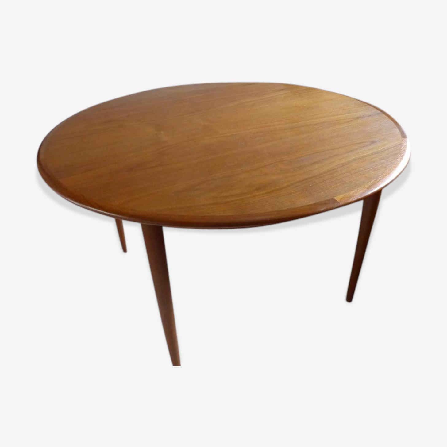 Table ronde de style scandinave en teck Andersen