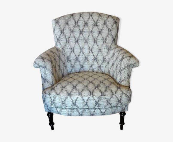 Louis Philippe bergere Chair - fabric - beige - classic - uhXjfEX