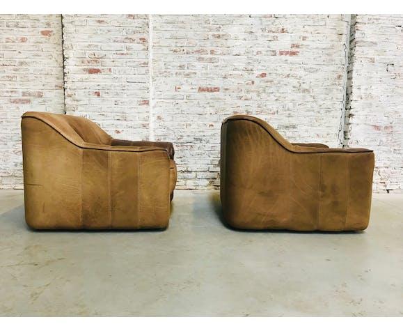 Ensemble de 2 chaises de salon modèle Suisse par De Sede, des années 1970