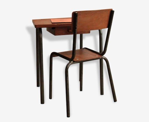bureau et chaise d 39 cole maternelle pour enfant bois. Black Bedroom Furniture Sets. Home Design Ideas