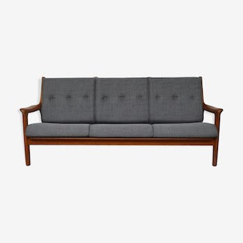 Sofa bench 3-seater Danish vintage - 1960