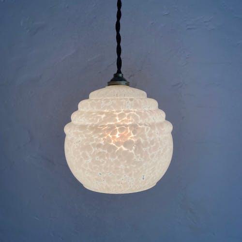 Lot 2 Clichy glass suspension lamps