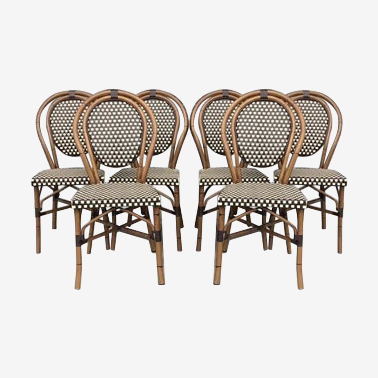 Set of 6 chairs of Parisian Bistro