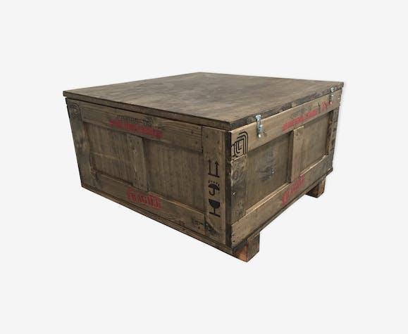 énorme réduction 9eec9 0509d Table basse coffre industrielle - bois (Matériau) - marron ...