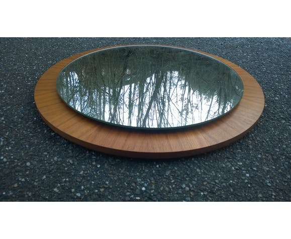 Miroir scandinave teck 1960 - 60cm