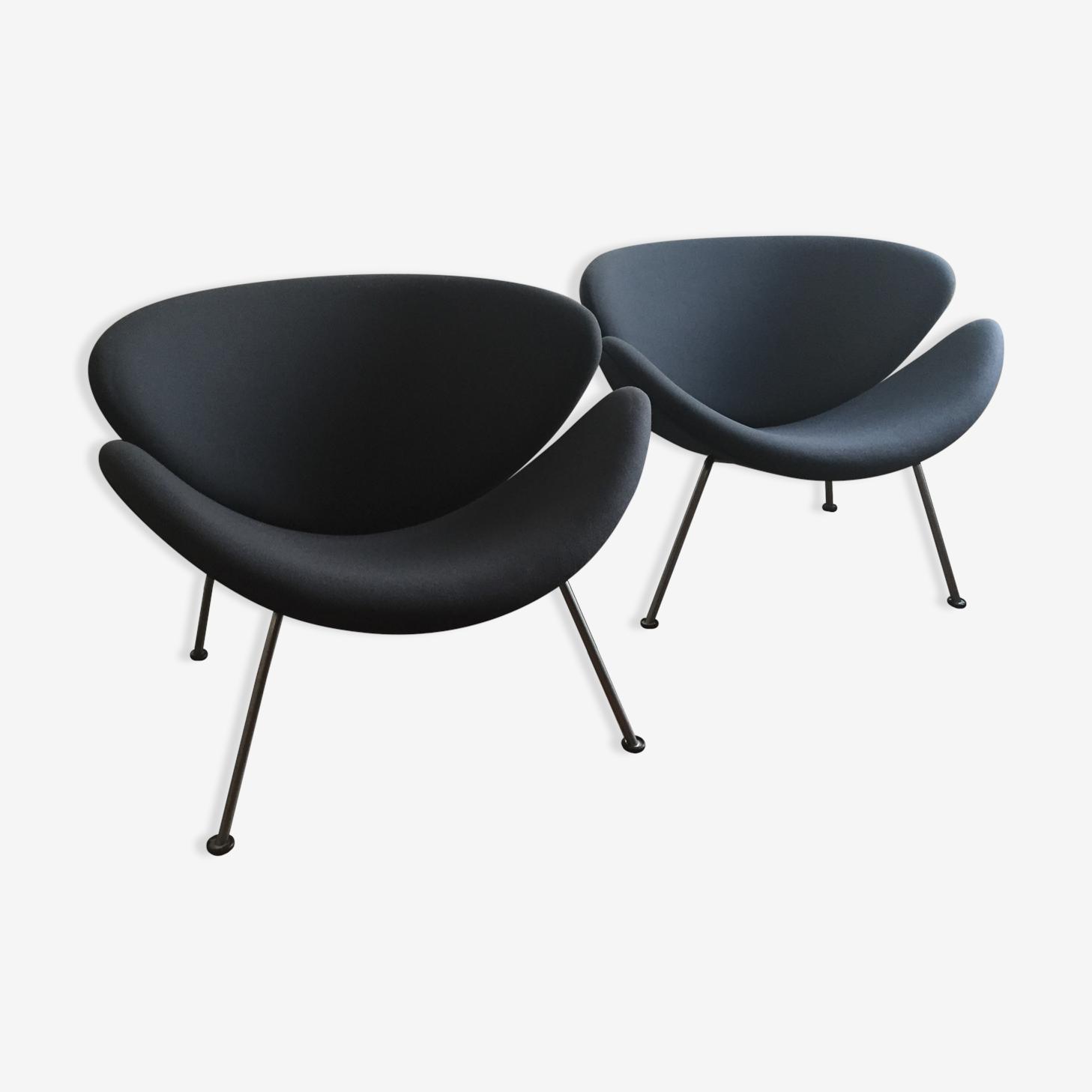 Orange slice F437 armchairs by Pierre Paulin for Artifort