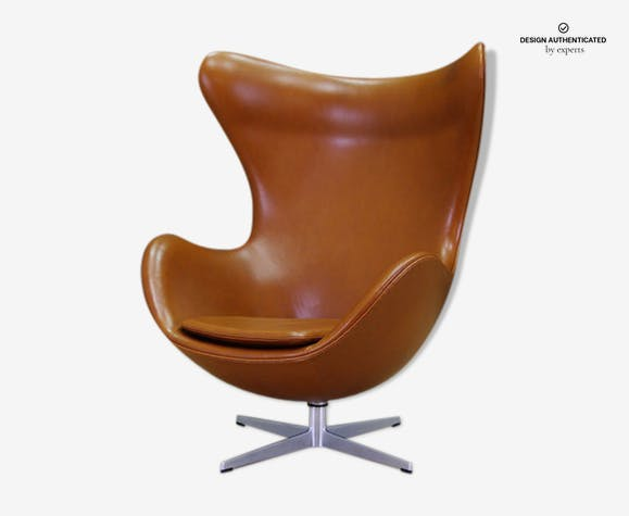 Egg Chair Cognac.Leather Cognac By Arne Jacobsen For Fritz Hansen 1960 Egg Chair S
