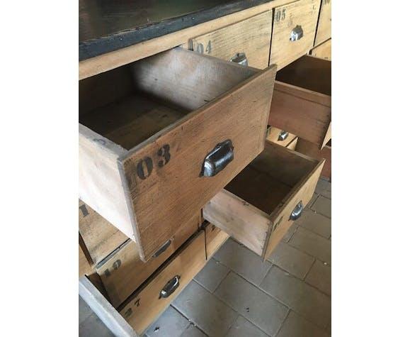 Comptoir de métier 64 tiroirs 1950