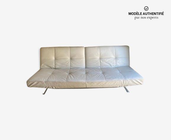Canapé en cuir blanc Pascal Mourgue pour Ligne Roset