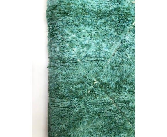 Tapis berbère marocain Beni Ouarain vert émeraude 2,73x2,13m