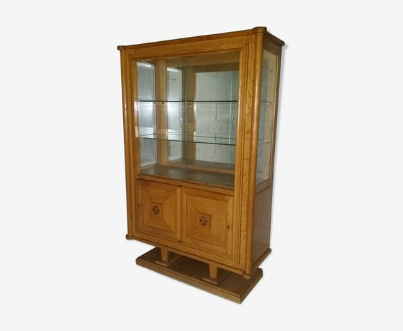 vitrine argentier gaston poisson en ch ne des ann es 30 40 art d co bois mat riau bois. Black Bedroom Furniture Sets. Home Design Ideas