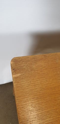 Coffre bois et osier rotin