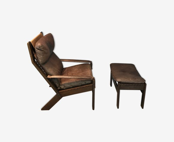 Norwegian armchair & footstool from Westnofa, 1960