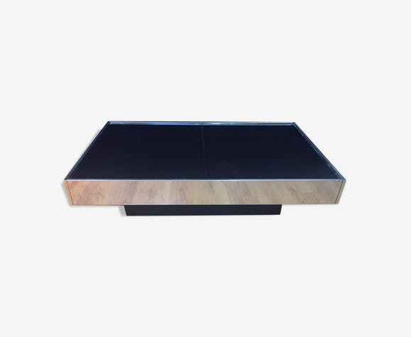 Table Low Willy Rizzo Cidue 1970 Edition Metal Silver Color