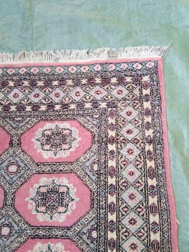 Ancien tapis d'orient fait mains 198 x 126