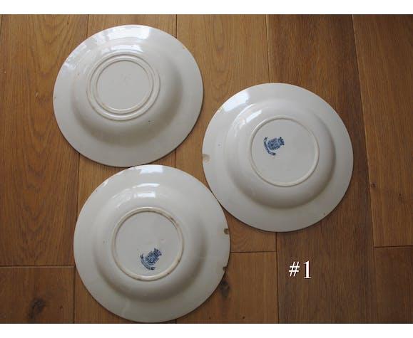 Ensemble de 6 assiettes creuses Gien