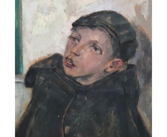Portrait d'une petit chanteur de rue